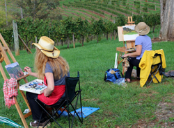 Painting at Addison Farms